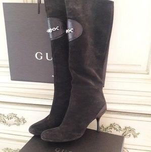 GORGEOUS VINTAGE GUCCI SUEDE/LEATHER BOOTS! 7.5B